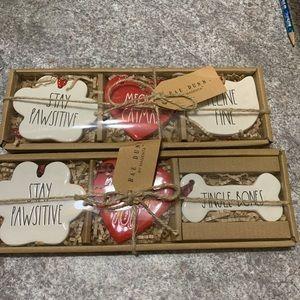 Rae Dunn Christmas Dog Cat Cookie Cut Ornaments